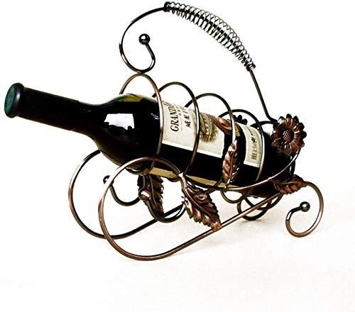 JIAHE115 wijnrek Nordic wijnrek geschenk bloem van de zon familietent keuken bar kleur goud