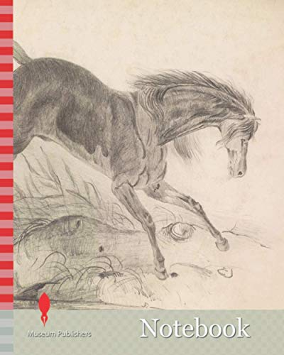 Notebook: Study of a Leaping Horse, 1839 Frederick Sandys, Inscription reads: 'Aged 9', 'Norwich drawn 1839 by A.F.A. Sands. Heigham.', Art Movement, ... Sketch, Animal, Horse, Study, Works on Paper