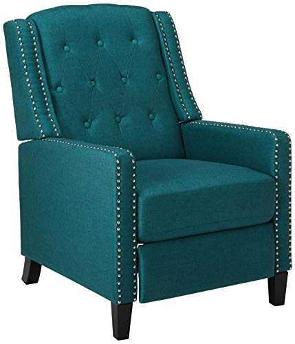 Christopher Knight Home Izidro Tufted Fabric Recliner, Dark Teal / Dark Brown