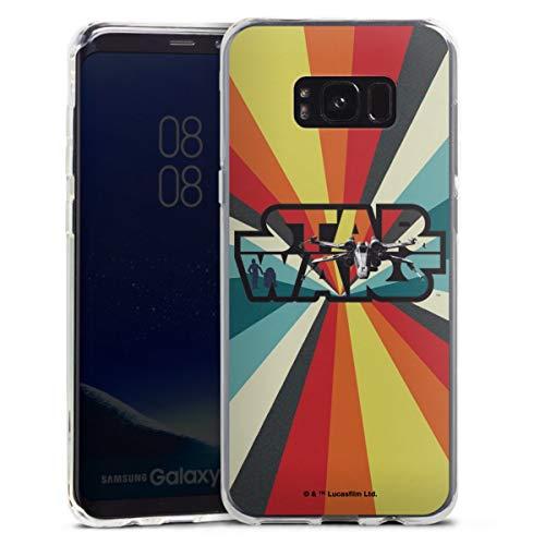 DeinDesign Silikon Hülle kompatibel mit Samsung Galaxy S8 Plus Case transparent Handyhülle Star Wars Retro Fanartikel