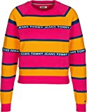 Tommy Hilfiger TJW Tommy Tape Stripe Sweater Jersey, Amarillo (Radiant Yellow/Multi 704), S para Mujer
