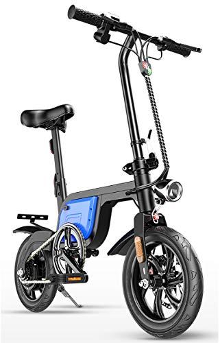 GUOJIN Bicicleta Electrica 350W Motor Bicicleta Plegable 25 Km/H, Bici Electricas Adulto...