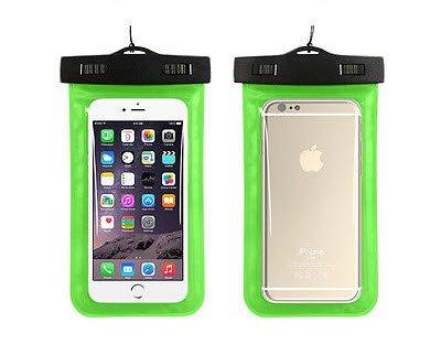BEST SHOPPER Universal Waterproof Underwater Pouch Dry Bag Case Cover Cell Phone Swimming Bag Fits Most Mobile Phones - Green
