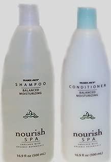Trader Joe's Nourish Spa Balance Moisturizing Shampoo & Moisturizing Conditioner, 16.9oz