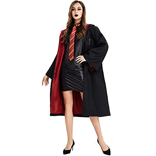 Halloween Dresses MagicRobe, Luxurious Adult-themed Robes In the Magical World, Movie-level Dress-up Costume Accessories Cosplay black-XL