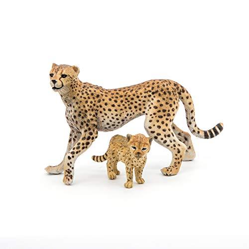 Papo Wild Animal Kingdom Figure, Cheetah with Cub