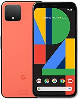 Google Pixel 4 XL G020P 64GB 6. 3 بوصات Android (GSM فقط، بدون CDMA) Factory Unlocked 4G/LTE الذكي - الإصدار العالمي (برتق...