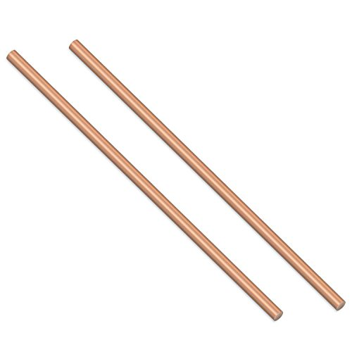 Sutemribor 2PCS Copper Round Rod, 3/16
