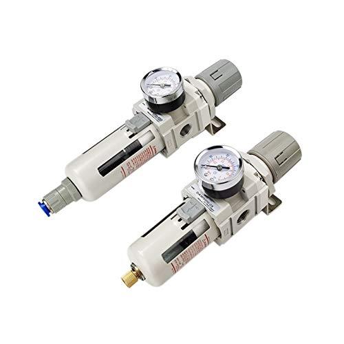 De Aire Regulador Filtro de seperador de agua de aceite de aire G3 / 8 '' Controlador regulador de aire Regulador neumático Filtro de compresor (Color : Copper filter, Specification : Manual)