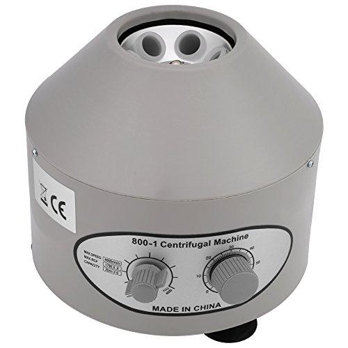 Labor Zentrifuge, Elektrische Tischzentrifuge mit Einstellbaren Geschwindigkeiten und Zeitmesser, Zentrifuge mit niedriger Drehzahl 4000 U/min und 20 ml x 6 Kapazität, 220 V