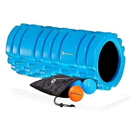 Sportastisch Top¹ Faszienrollen Set Let's Roll mit Trainingsrolle, Massageball, Twinball und Tasche | GRATIS E-Book und bis zu 3 Jahre²