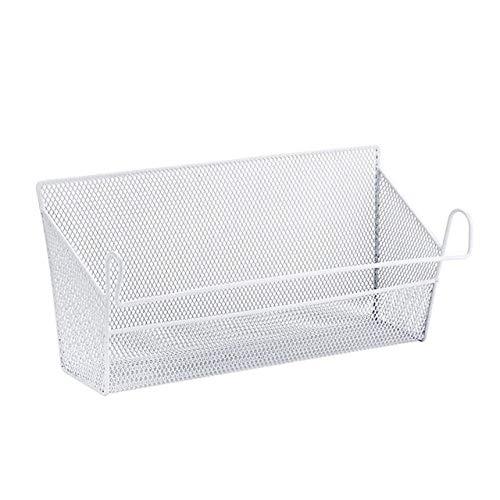 ZYLDM Wasmand Bed Shelf Storage Bins Baskets Student Dormitory Woonkamer Iron Storage bed Mesh Shelf Cosmetische ophangmand Kleur: wit