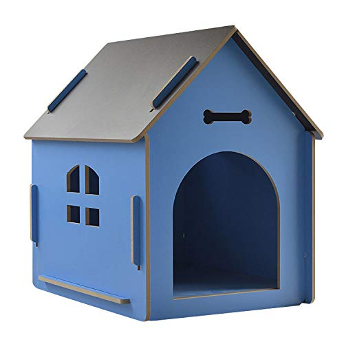 thematys Perrera de Madera para Perros I Casa para Perros para Uso Interior y Exterior I Lugar para Dormir a Las Mascotas I Resistente a la Intemperie y a los arañazos (S (40 x 39 x 45 cm), Style 6)