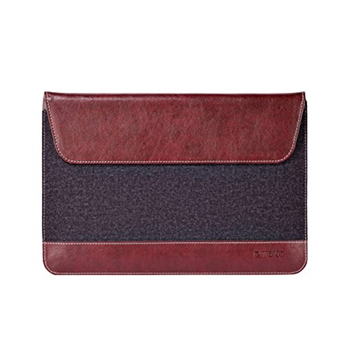 Maroo Woodland - Synthetic Leather and Felt Sleeve for Surface 3 - Bordeaux