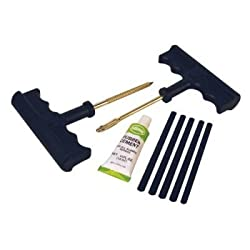 Tire Plug Kit - Almost every repair can be done on the trail. Ream, lube, plug and seal with rubber cement. IT WORKS. CLICK HERE TO BUY ON AMAZON
