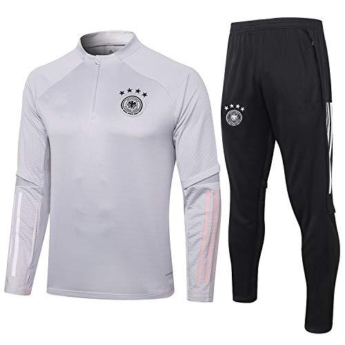 PARTAS Deutschland Tracksuits Football Wear Verein Uniform Langarm-Trainingsanzug Wettbewerb Anzug Herren 2 Stück Sets (Size : XL)