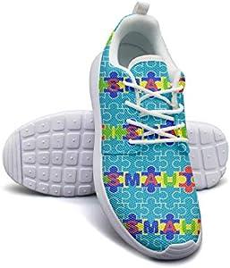 Hobart dfgrwe Autism Speaks Walk Jigsaw Puzzle Color Lady Skateboard Casual Shoes Comfortable Tennis Shoes