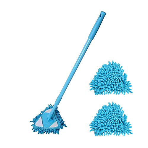 Retractable Triangle Cleaning Mop, 180 Degree Rotation Adjustable Triangle Cleaning Mop Ceiling...