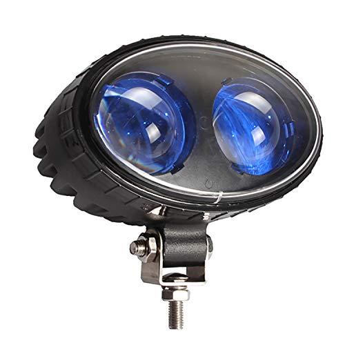 8W LED Carretilla Elevadora Luz de Seguridad Luz Azul Spot Lámpara de Almacén Horquilla Luz de Advertencia de Montaje Lateral Camión Seguros de Camión DC10V-100V Ancho Voltaje 250LM
