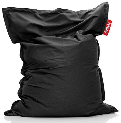 Fatboy® Original Outdoor schwarz Acryl-Gewebe Sitzsack | Klassischer Beanbag für draußen, Sitzkissen | 180 x 140 cm