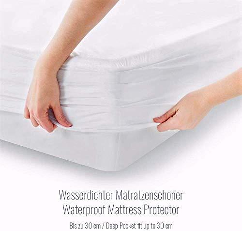 Melunda Wasserdichter Matratzenschoner Atmungsaktiv Schutz...
