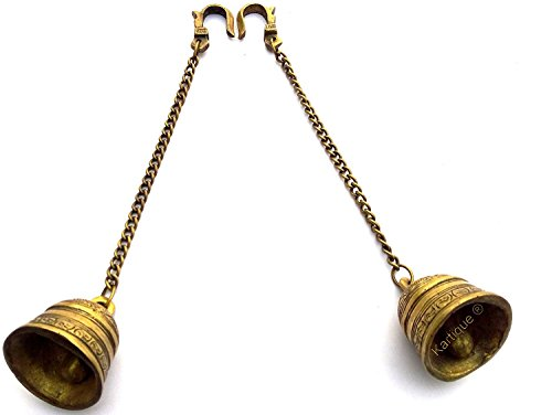Royal Pair of Brass Hanging Bell with chain