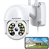 Kamera Überwachung Aussen, AIBOOSTPRO 1536p Überwachungskamera Aussen WLAN, PTZ IP Kamera Outdoor Mit Automatische Verfolgung, 30m Farbe Nachtsicht, 2-Wege Audio, IP66 Wasserdicht