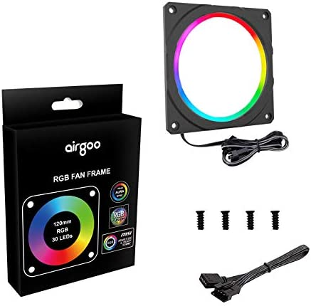 NEON RGB LED Strip Kit for PC, RGB LED Strip Light, Vibrant LED Computer Lights Multi Function RF Remote for Desktop PC Computer Tower, Come with Sata Power Cable and 12pcs Strong Magnetic Brackets