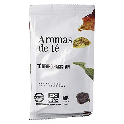 Aromas de Te - Te Negro Pakistan con Clavo Canela Cardamomo Vainilla Jengibre Aromas Naturales Digestivo Anti-inflamatorio sabor picante y fresco, 100 gr