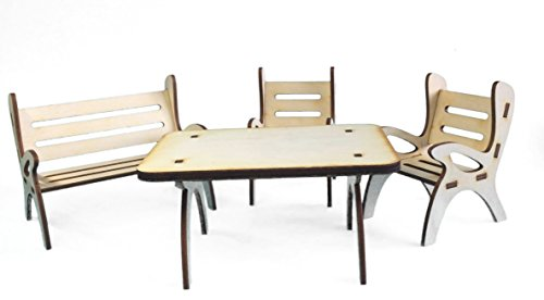 Petra's Craft News A GMH08FS1consists of 1Table Dining Set, 1x Garden Bench and 2Chairs–Set of 4