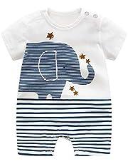 Pelele de algodón orgánico para bebé de AllaIBB, para niños y niñas, como polo o pantalón corto o pelele de verano (0-24 meses)