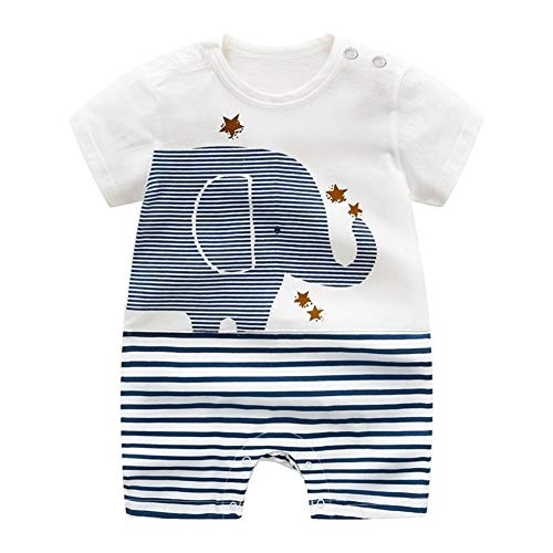 Baby-Jungen Spieler, ALLAIBB Babykleidung aus Bio-Baumwolle Baby Strampler Jungen Mädchen als Polo-Shirt Kurze Hose oder Sommer-Strampler (0-24 Monate)