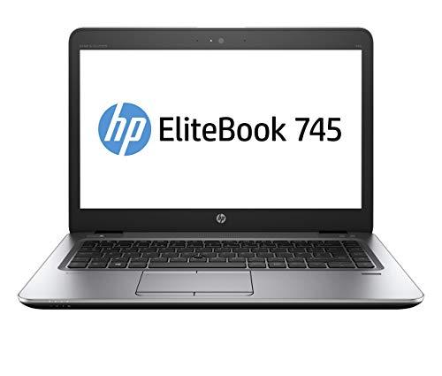 HP EliteBook 745 G4 14 inch AMD A12 PRO 9800B, 8 GB RAM, 256 GB SSD Laptop (Renewed)