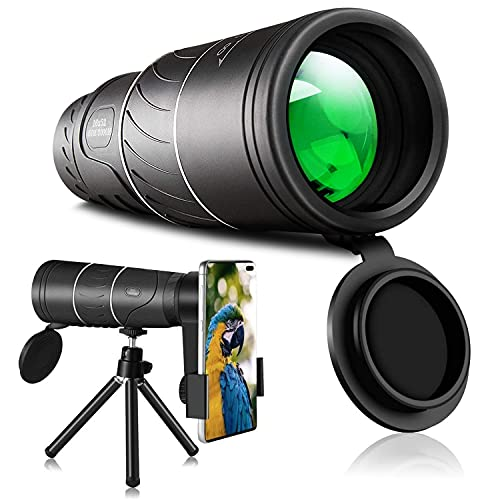 Monocular Telescope, 16x52 Monocular - Dual Focus Optics Zoom Telescope, Day & Low Night Vision Monocular with Durable and Clear FMC BAK4 Prism Dual Focus for Bird Watching, Camping