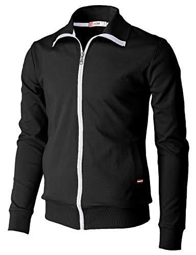 Black Zip Up Jackets Men's