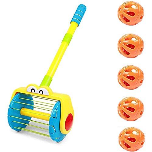 Baby Kleinkind-Kinderwagen-Staubsauger und niedlicher Kanonentopf-Spielzeug-Set, elektrischer Push-Wanderer mit Whirl-Scoop-frühen Bildung Spielzeug for Kinder Eltern-Kind Interaktives Party-Fun-Famil