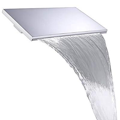M Boenn Waterfall Shower Head Wall Mounted Shower Panel Square Bathroom Bathtub ShowerHeads Brass Chrome