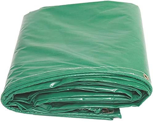YUEDAI Waterproof Tarpaulin Tarp Ground Sheet Covers Shed Cloth Awning Tent PVC Thicken Rainproof Heavy Duty Reinforced Sun Shade Outdoor, Multi Sizes, 480G/M² (Color : Green, Size : 4x5m)