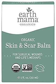 Organic Skin & Scar Balm by Earth Mama   Reduces the Discomfort and Appearance of C-Section Scars and Pregnancy Stretch Marks 1-Fluid Ounce