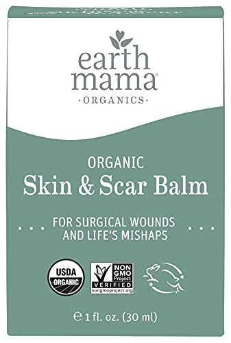 Organic Skin & Scar Balm by Earth Mama | Reduces the Discomfort and Appearance of C-Section Scars and Pregnancy Stretch Marks, 1-Fluid Ounce
