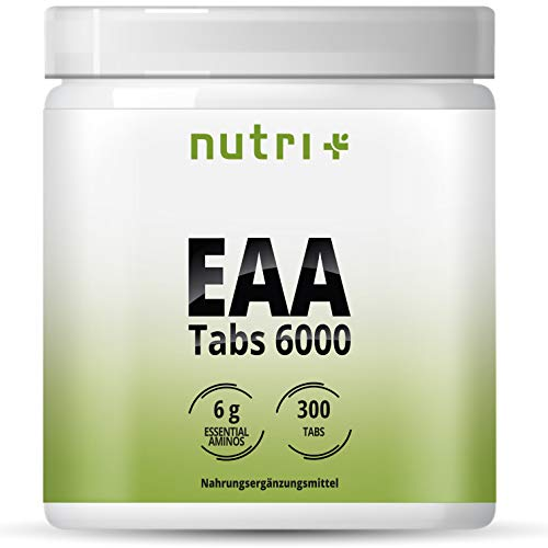 EAA TABLETS - 300 Tabs 1025mg - MAXIMUM DOSE - essentiële aminozuren - EAAs Neutraal zonder magnesiumstearaat - Aminozuursupplement Vegan - Aminozuurtabletten Patroon