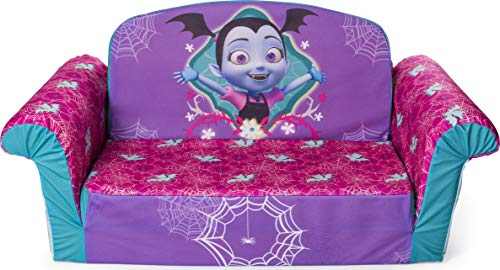 """""""Marshmallow Furniture 2-in-1 Flip Open Foam Couch Bed Sleeper Sofa Kids Furniture for Ages 18 Months and Up, Vampirina"""""""