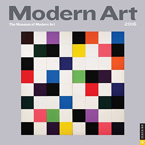 Modern Art 2016 Mini Wall Calendar