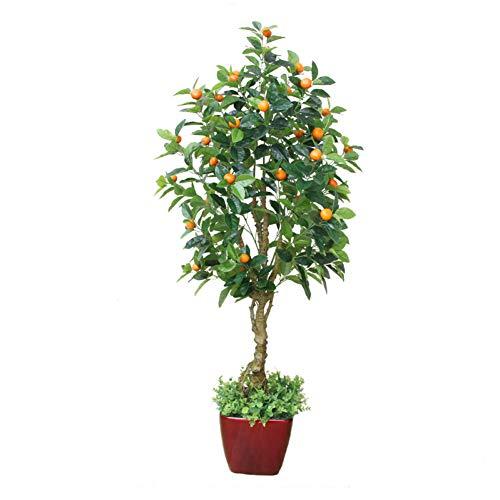 HYLZW Flor Artificial Planta Planta Artificial Manzano Naranjo Árbol Falso Verde Flor Artificial Decoración del Hogar Bonsai Plantas Falsas Plantas De Casa Bonsai