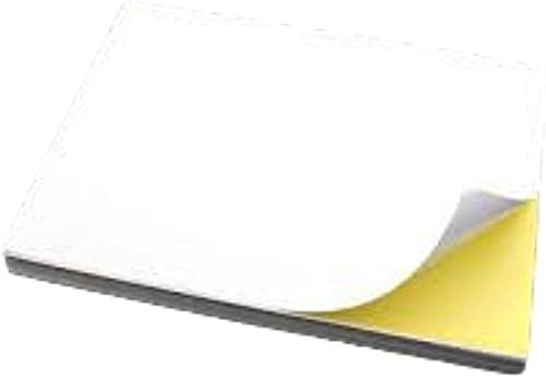 Étiquettes blanches autocollantes dans tous les formats. 100feuilles DIN A4, 70g/m² pour phot...