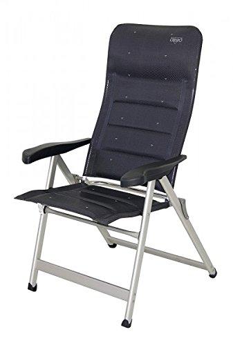 Chaise pliante chaise pliante de camping sTABIELO avec 6 positions réglables - 81 cm-dossier haut-tête coudée et châssis en dURALUMINIUM-raccord ovale léger 4 kg-couleur : bleu - 140 kg-charge maximale : hOLLY sunshade contre supplément disponible avec hOLLY fÄCHERSCHIRMEN-hOLLY ® sTABIELO-produits innovation fabriqué en allemagne