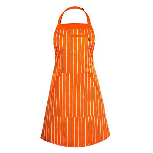 Iivos Aprons for Women Men ChefAdjustable Bib Apron with 3 Pockets 40 Long TiesCommercial GradeUnisex 33 x 281pc
