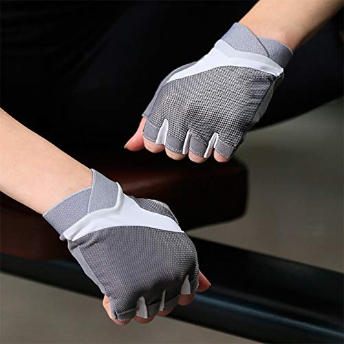 JIE KE Fitness handschoenen zomer fiets dunne sectie vrouwelijke halve vinger ademende anti-slip apparatuur training paardrijden sporthandschoenen