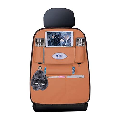 Maibuli Organizadores Coche para BMW X1 X3 320 X5 530 520 330 Impermeable Multi-Bolsillo Organizador Asiento Interior Protector 1piezas marrón