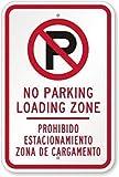 Señal de seguridad Wendana No Parking Load Zone Prohibido Estacionamiento Zona De Cargamento divertida decorativa para patio al aire libre hogar de aluminio para pared de 20 x 30 cm